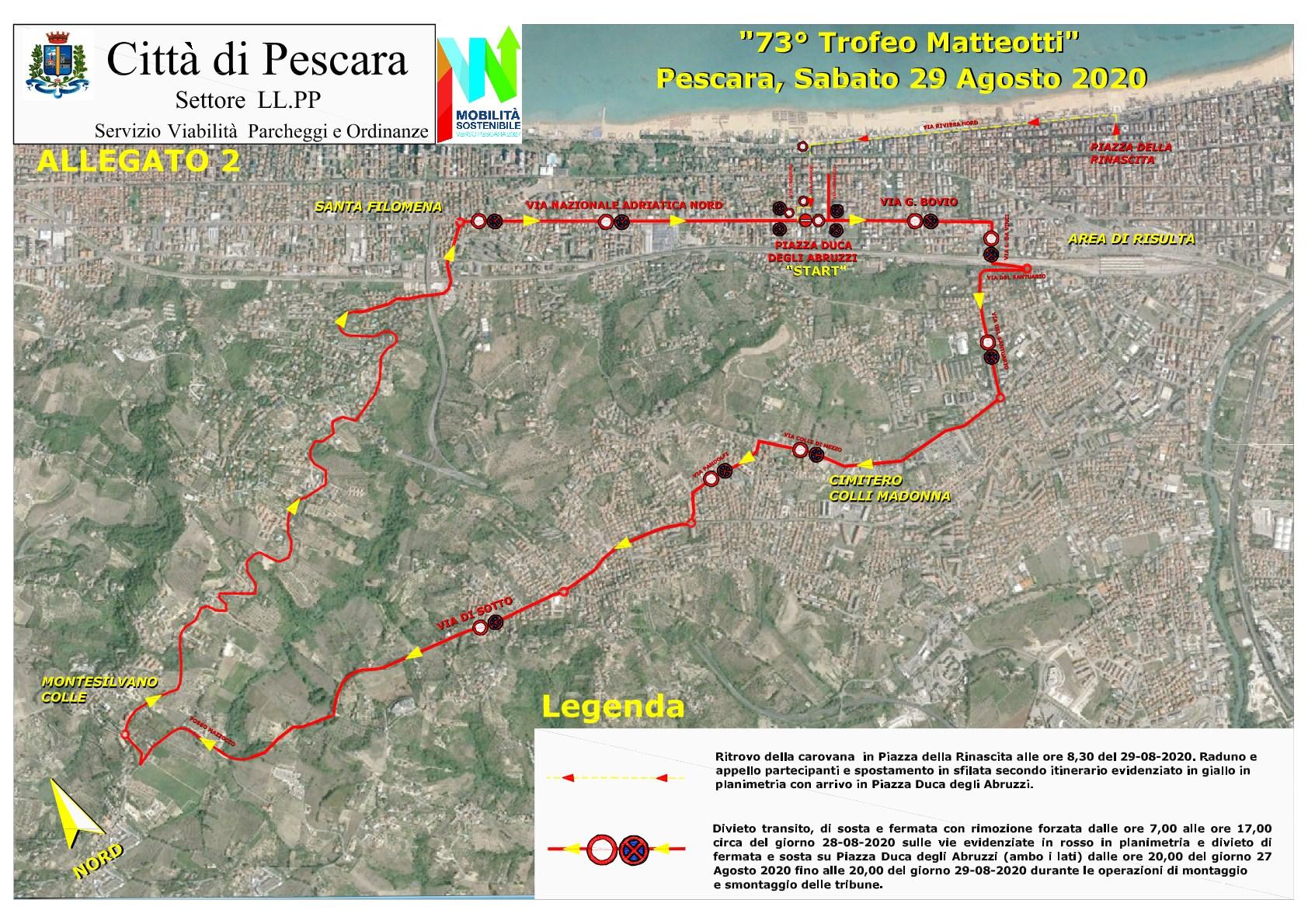 73° Trofeo Matteotti: viabilità e trasporti